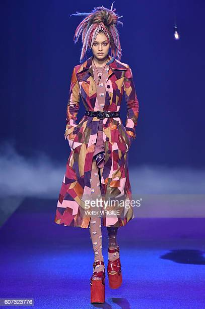 Gigi Hadid walks the runway at Marc Jacobs Ready to Wear Spring Summer 2017 show during New York Fashion Week on September 15 2016 in New York City