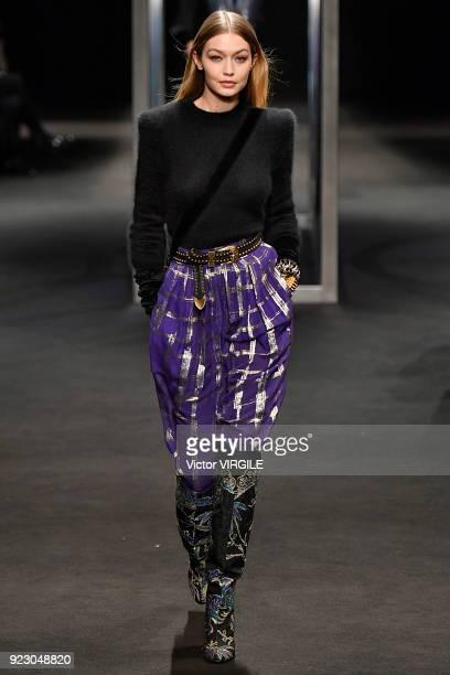Gigi Hadid walks the runway at the Alberta Ferretti Ready to Wear Fall/Winter 20182019 fashion show during Milan Fashion Week Fall/Winter 2018/19 on...