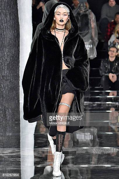 Gigi Hadid walks the runway at the FENTY PUMA by Rihanna AW16 Collection during Fall 2016 New York Fashion Week on February 12 2016 in New York City