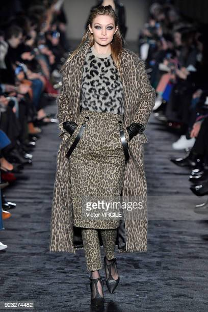 Gigi Hadid walks the runway at the Max Mara Ready to Wear Fall/Winter 20182019 fashion show during Milan Fashion Week Fall/Winter 2018/19 on February...