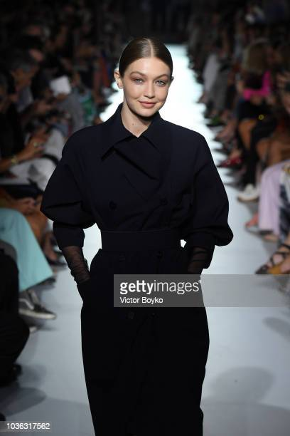 A model walks the runway at the Max Mara show during Milan Fashion Week Spring/Summer 2019 on September 20 2018 in Milan Italy