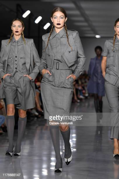Gigi Hadid walks the runway at the Max Mara show during the Milan Fashion Week Spring/Summer 2020 on September 19 2019 in Milan Italy