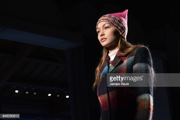 Gigi Hadid walks the runway at the Missoni show during Milan Fashion Week Fall/Winter 2017/18 on February 25 2017 in Milan Italy