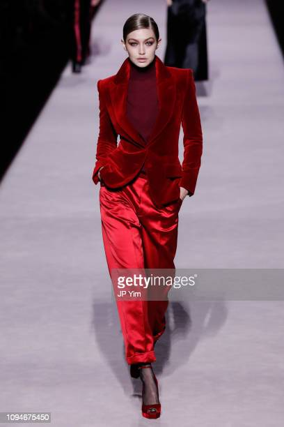 Gigi Hadid walks the runway at the Tom Ford Autumn/Winter 2019 Collection on February 6, 2019 in New York City.
