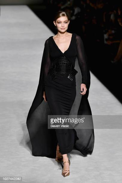 Gigi Hadid walks the runway at the Tom Ford fashion show during New York Fashion Week at Park Avenue Armory on September 5 2018 in New York City