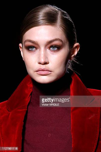 Gigi Hadid walks the runway at the Tom Ford Ready to Wear Autumn/Winter 2019-2020 fashion show on February 6, 2019 in New York City.