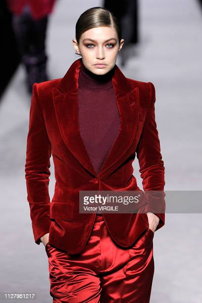 Gigi Hadid walks the runway at the Tom Ford Ready to Wear Autumn/Winter 20192020 fashion show on February 6 2019 in New York City