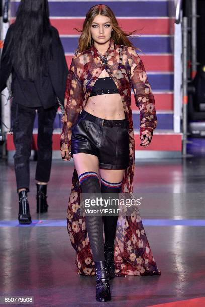 Gigi Hadid walks the runway at the Tommy Hilfiger Ready to Wear Spring/Summer 2018 fashion show during London Fashion Week September 2017 on...
