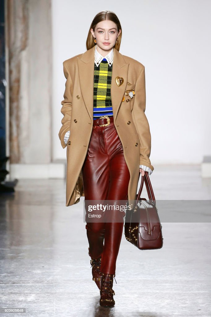 6cec39f5df01 Versace - Runway - Milan Fashion Week Fall Winter 2018 19. Gigi Hadid walks  ...