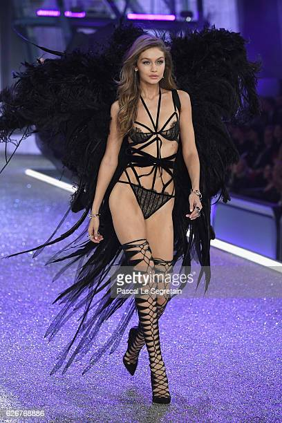 Gigi Hadid walks the runway at the Victoria's Secret Fashion Show on November 30 2016 in Paris France