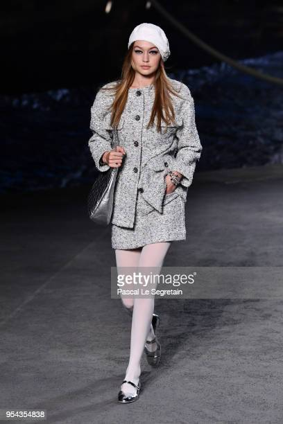 Gigi Hadid walks the runway during Chanel Cruise 2018/2019 Collection at Le Grand Palais on May 3 2018 in Paris France