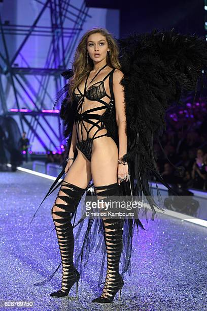 Gigi Hadid walks the runway during the 2016 Victoria's Secret Fashion Show on November 30 2016 in Paris France