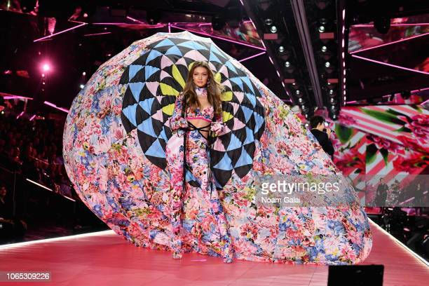 Gigi Hadid walks the runway during the 2018 Victoria's Secret Fashion Show at Pier 94 on November 08, 2018 in New York City.