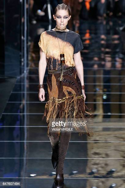 Gigi Hadid walks the runway during the Balmain Ready to Wear fashion show as part of the Paris Fashion Week Womenswear Fall/Winter 2017/2018 on March...