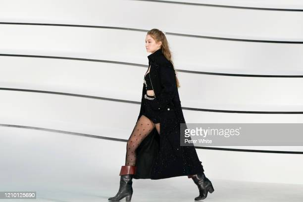 Gigi Hadid walks the runway during the Chanel as part of the Paris Fashion Week Womenswear Fall/Winter 2020/2021 on March 03 2020 in Paris France