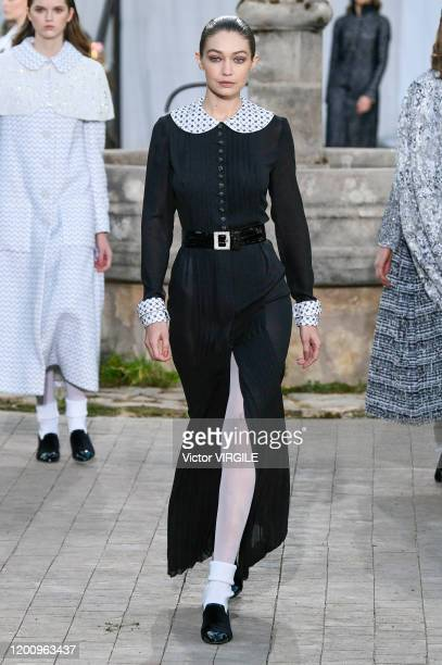 Gigi Hadid walks the runway during the Chanel Haute Couture Spring/Summer 2020 fashion show as part of Paris Fashion Week on January 21 2020 in Paris...