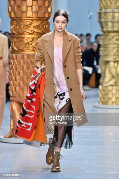 Gigi Hadid walks the runway during the Chloe Ready to Wear fashion show as part of the Paris Fashion Week Womenswear Fall/Winter 2020/2021 on...