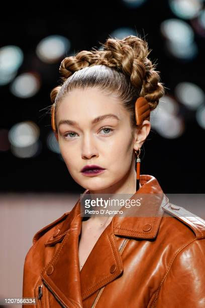Gigi Hadid walks the runway during the Fendi fashion show as part of Milan Fashion Week Fall/Winter 20202021 on February 20 2020 in Milan Italy