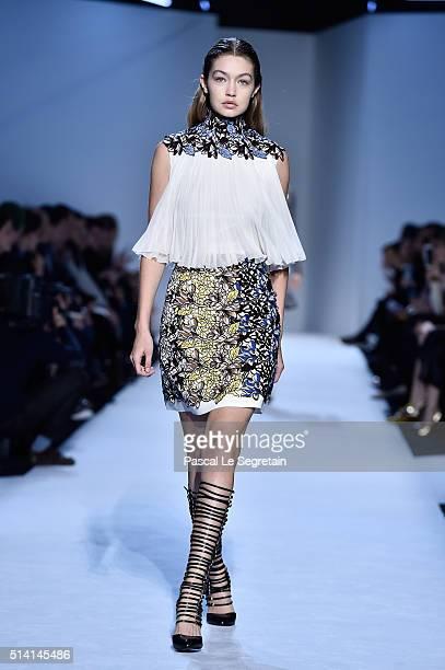Gigi Hadid walks the runway during the Giambattista Valli show as part of the Paris Fashion Week Womenswear Fall/Winter 2016/2017 on March 7 2016 in...