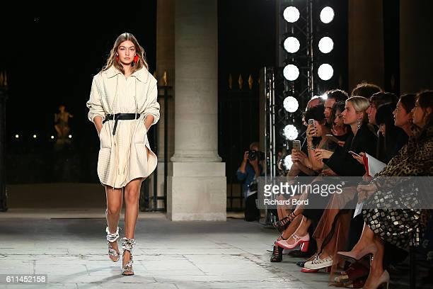 Gigi Hadid walks the runway during the Isabel Marant show as part of the Paris Fashion Week Womenswear Spring/Summer 2017 at Palais Royal on...