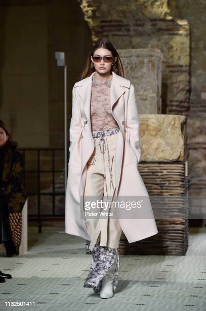 Gigi Hadid walks the runway during the Lanvin show as part of the Paris Fashion Week Womenswear Fall/Winter 2019/2020 on February 27 2019 in Paris...