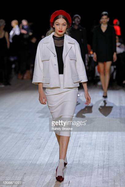 Gigi Hadid walks the runway during the Marc Jacobs Fall Winter 2020 fashion show at the Park Avenue Armory on February 12, 2020 in New York City.