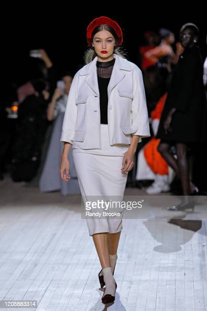 Gigi Hadid walks the runway during the Marc Jacobs Fall Winter 2020 fashion show at the Park Avenue Armory on February 12 2020 in New York City