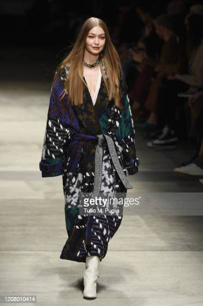 Gigi Hadid walks the runway during the Missoni fashion show as part of Milan Fashion Week Fall/Winter 2020-2021 on February 22, 2020 in Milan, Italy.