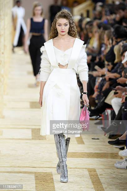 Gigi Hadid walks the runway during the Miu Miu Womenswear Spring/Summer 2020 show as part of Paris Fashion Week on October 01 2019 in Paris France