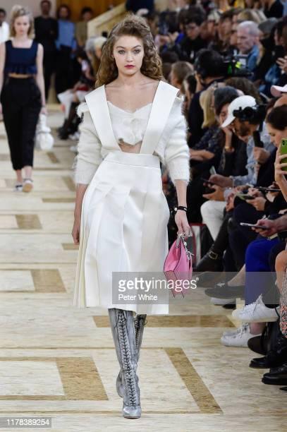 Gigi Hadid walks the runway during the Miu Miu Womenswear Spring/Summer 2020 show as part of Paris Fashion Week on October 01, 2019 in Paris, France.
