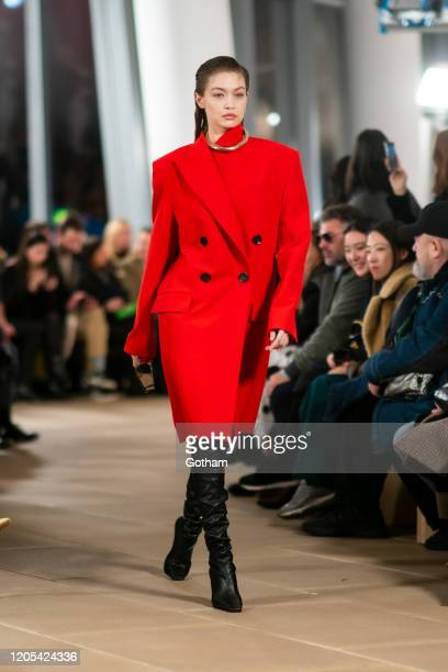 Gigi Hadid walks the runway during the Proenza Schouler fashion show during New York Fashion Week: The Shows at the IAC Building on February 10, 2020...