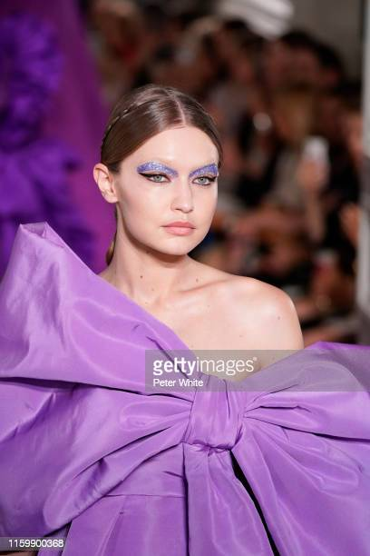 Gigi Hadid walks the runway during the Valentino Fall/Winter 2019 2020 show as part of Paris Fashion Week on July 03, 2019 in Paris, France.