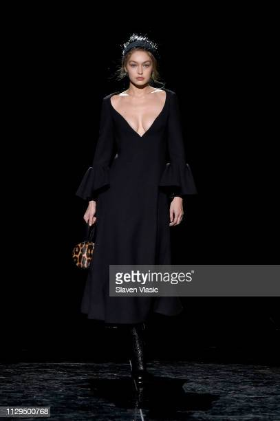 Gigi Hadid walks the runway for the Marc Jacobs Fall 2019 Show at Park Avenue Armory on February 13 2019 in New York City