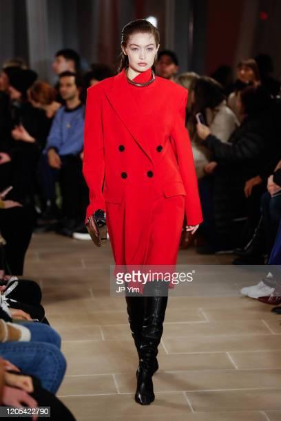 Gigi Hadid walks the runway for the Proenza Schouler fashion show during February 2020New York Fashion Week The Shows on February 10 2020 in New York...