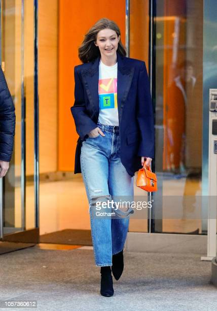 Gigi Hadid wears a shore that says 'Vote' when out and about on November 4 2018 in New York City