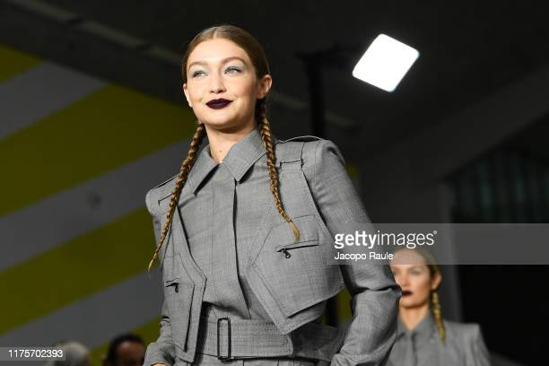 Gigi Hadidl walks the runway at the Max Mara show during the Milan Fashion Week Spring/Summer 2020 on September 19 2019 in Milan Italy