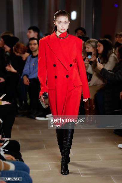 Gigi Hadidl walks the runway for the Proenza Schouler fashion show during February 2020New York Fashion Week The Shows on February 10 2020 in New...
