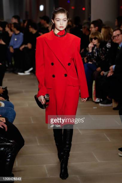 Gigi Hadidl walks the runway for the Proenza Schouler fashion show during February 2020-New York Fashion Week: The Shows on February 10, 2020 in New...
