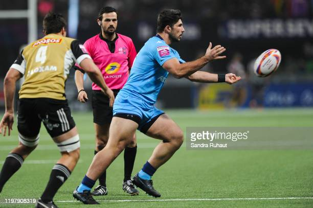 Gigi LESHKASHELI of Montpellier Herault Sevens during the Rugby Championship match between CA Brive Sevens and Montpellier Sevens of In Extenso...
