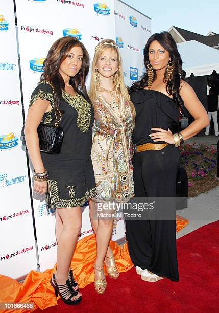 Gigi Liscio Dina Manzo and Tracy DiMarco attend the 4th annual Ladies Night Out benefit at The Brownstone on June 7 2010 in Paterson New Jersey