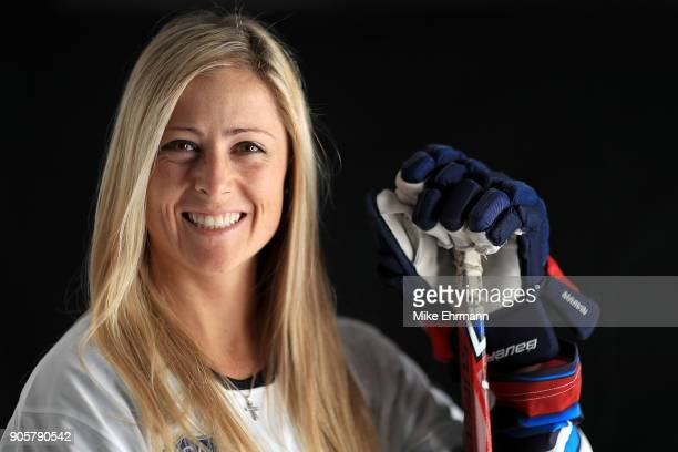 Gigi Marvin of the United States Women's Hockey Team poses for a portrait on January 16, 2018 in Wesley Chapel, Florida.