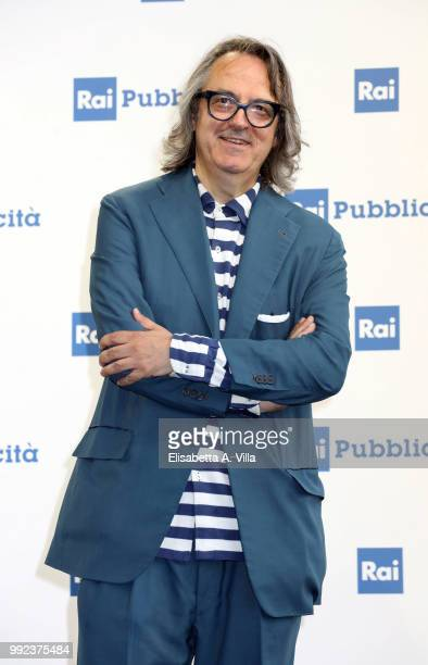 Gigi Marzullo attends the Rai Show Schedule presentation on July 5 2018 in Rome Italy