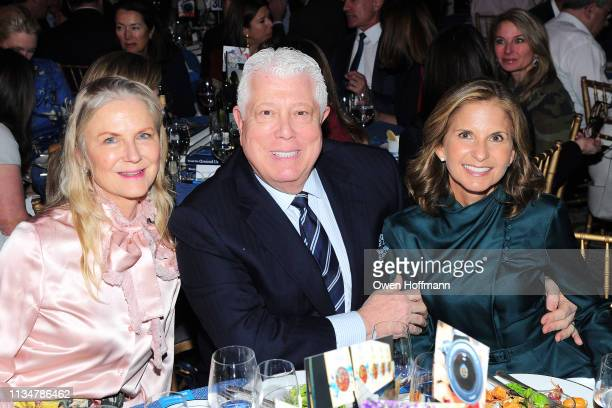 Gigi Mortimer Dennis Basso and Danielle Ganek attend BCNY Annual Luncheon at 583 Park Avenue on April 3 2019 in New York City