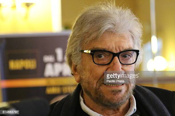 Gigi Proietti during the press conference at the Teatro Augusteo of the show Non ce` due senza te