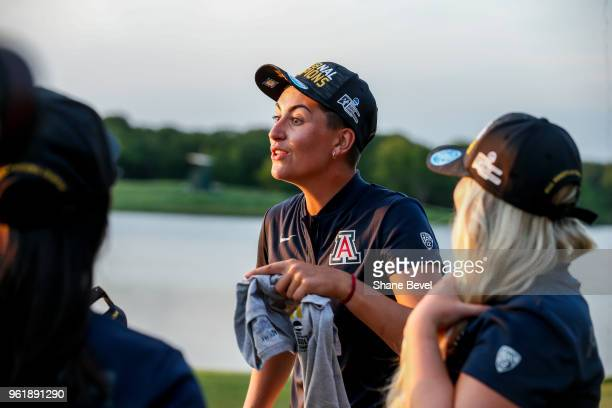 Gigi Still of Arizona talks with her teammates after winning the Division I Women's Golf Team Match Play Championship held at the Karsten Creek Golf...
