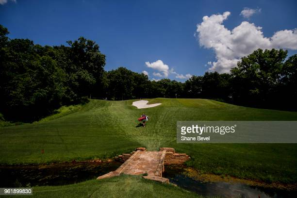 Gigi Stoll of Arizona makes her way to down onto the green during the Division I Women's Golf Team Match Play Championship held at the Karsten Creek...