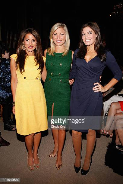Gigi Stone Ainsley Earhardt and Kimberly Guilfoyle attend the Douglas Hannant Spring 2012 fashion show during MercedesBenz Fashion Week at The Plaza...