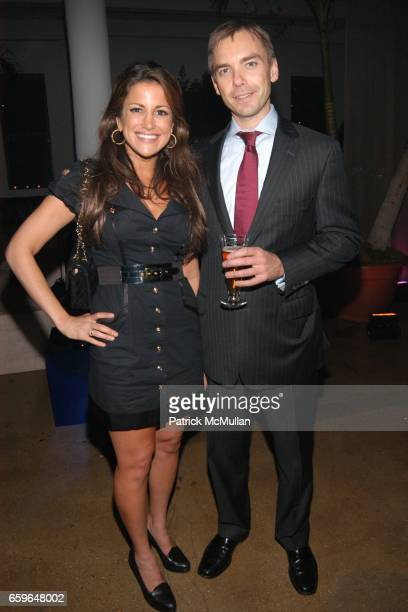 Gigi Stone and Ian Woods attend Gloria Gaynor Relaunches I Will Survive for Womens Law at Skyline Studios on October 29 2009 in New York City