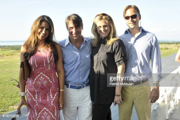 Gigi Stone Dr Steven Butensky Di Petroff Ian Woods attend Toby Tucker Golf Collection Fashion Show at a private location on July 31 2010 in...