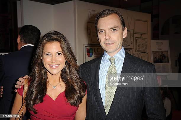 Gigi Stone Woods and Ian Woods attend 2015 ArtsConnection Benefit Celebration at 583 Park Avenue on April 21 2015 in New York City